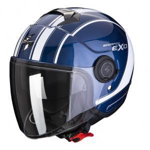 Otevřená přilba na motorku SCORPION EXO-CITY SCOOT tmavě modro-bílá
