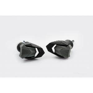 Pádové protektory rámu PUIG R19 20716N černý s šedou gumou