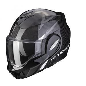 Překlápěcí přilba Scorpion EXO-TECH Carbon Top černo-bílá