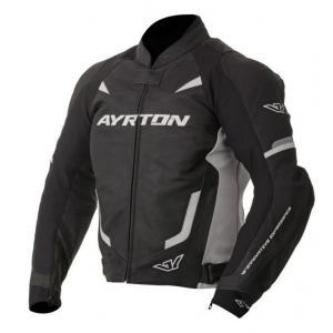 Bunda na motorku Ayrton Evoline černo-bílá