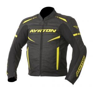 Bunda na motorku Ayrton Raptor černo-fluo žlutá výprodej
