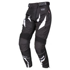 Dámské kalhoty na motorku RSA Queen černo-bílé