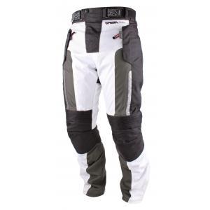 Kalhoty na motorku RSA Greby černo-bílé