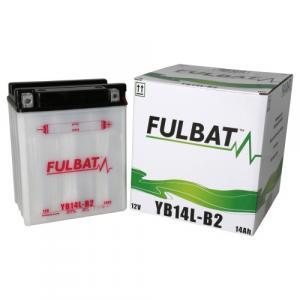 Konvenční motocyklová baterie FULBAT FB14L-B2  (YB14L-B2) Včetně balení kyseliny