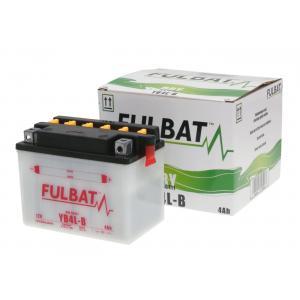 Konvenční motocyklová baterie FULBAT FB4L-B  (YB4L-B) Včetně balení kyseliny