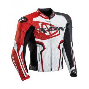 Bunda na motorku IXON Falcon bílo-červeno-černá