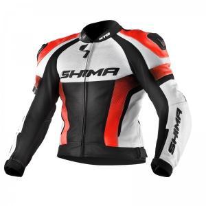 Bunda na motorku Shima STR černo-bílo-fluo červená výprodej