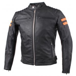 Bunda na motorku Street Racer Block černo-oranžová