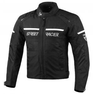 Bunda na motorku Street Racer Definit černo-bílá