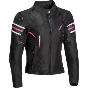 Dámská bunda na motorku IXON Ilana černo-růžová výprodej