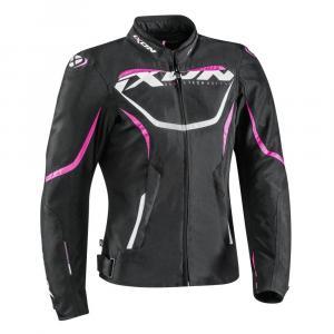 Dámská bunda na motorku IXON Sprinter černo-růžová