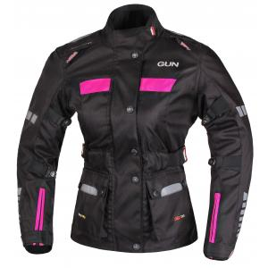 Dámská bunda na motorku RSA Gun černo-růžová