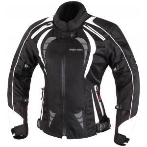 Dámská bunda na motorku RSA Queen černo-bílá