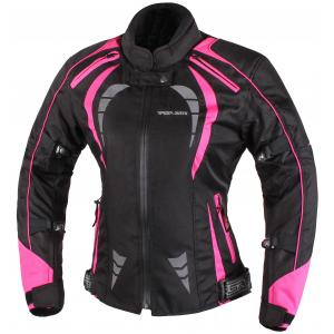 Dámská bunda na motorku RSA Queen černo-růžová