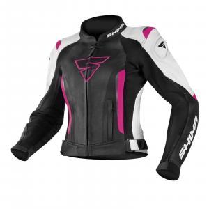 Dámská bunda na motorku Shima Miura černo-bílo-fuchsiová výprodej