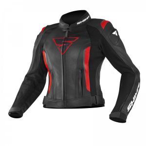 Dámská bunda na motorku Shima Miura černo-červená výprodej