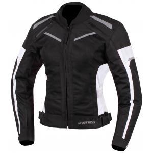 Dámská bunda na motorku Street Racer Betty černo-bílá