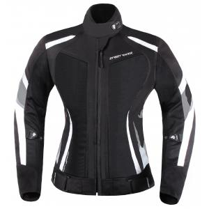 Dámská bunda na motorku Street Racer Elite černo-bílá