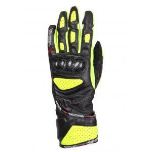 Dámské rukavice na motorku RSA RX-1 černo-fluo žluté