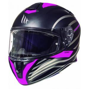 Integrální přilba na motorku MT Targo Doppler fluo růžová matná výprodej