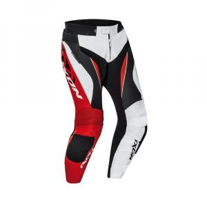 Kalhoty na motorku IXON Falcon bílo-červeno-černé