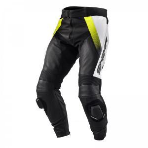 Kalhoty na motorku Shima STR černo-bílo-fluo žluté výprodej