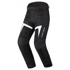 Kalhoty na motorku Street Racer Elite černo-bílé