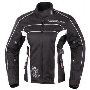 Moto bunda dámská RSA SW-01 černo-bílá