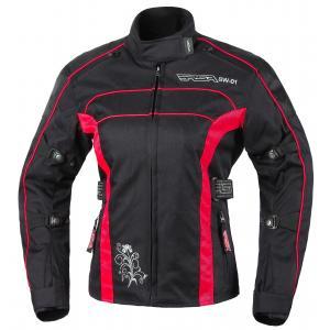 Moto bunda dámská RSA SW-01 černo-červená