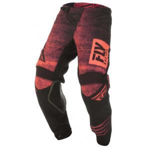 Motokrosové kalhoty FLY Racing Kinetic NOIZ 2019 - USA černo-fluo červené výprodej