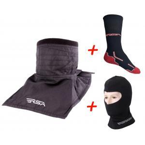 SET: Nákrčník RSA Soul + Termo kukla RSA Heat + Funkční ponožky RSA Classic