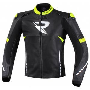Bunda na motorku Street Racer Bexter černo-bílo-fluo žlutá