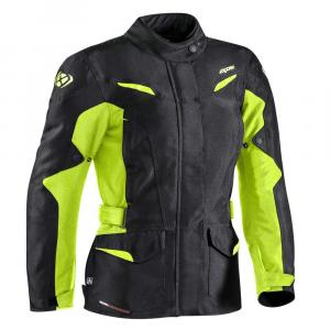 Dámská bunda na motorku IXON Summit 2 černo-fluo žlutá výprodej