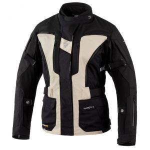 Dámská bunda na motorku Rebelhorn Hardy II černo-písková