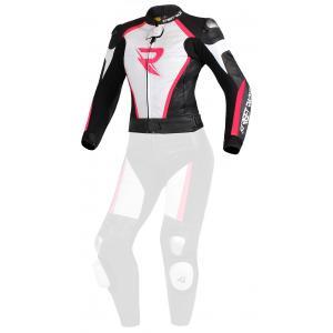 Dámská bunda Street Racer Kiara černo-bílo-fluo růžová
