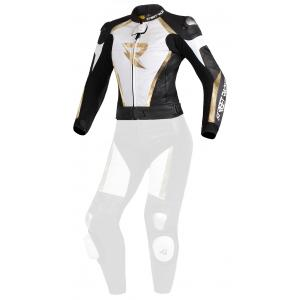 Dámská bunda Street Racer Kiara černo-bílo-zlatá - II. jakost