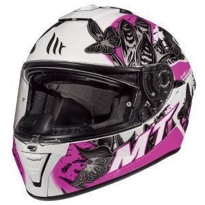 Dámská integrální přilba na motorku MT Blade 2 SV Breeze černo-bílo-růžová