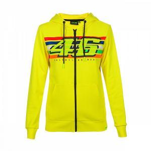 Dámská mikina VR46 Valentino Rossi STRIPES Fleece žlutá