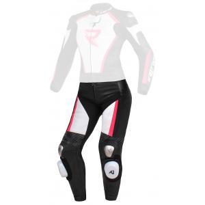 Dámské kalhoty Street Racer Kiara černo-bílo-fluo růžové