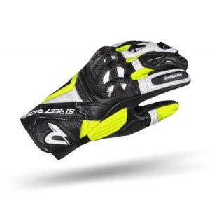 Dámské rukavice na motorku Street Racer XTR černo-bílo-fluo žluté