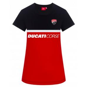Dámské triko Ducati - Corse černo-červené