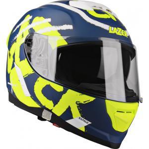 Integrální přilba na motorku Lazer Rafale Street modro-bílo-fluo žlutá výprodej