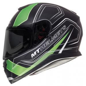 Integrální přilba na motorku MT Thunder 3 SV Trace černá matná-fluo zelená výprodej