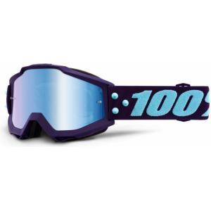 Motokrosové brýle 100% Accuri MANEUVER (modré zrcadlové plexi) výprodej