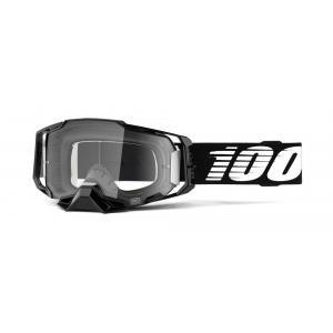 Motokrosové brýle 100% ARMEGA černé (čiré plexi)