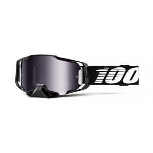 Motokrosové brýle 100% ARMEGA černé (stříbrné plexi)