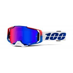 Motokrosové brýle 100% ARMEGA Genesis Hiper (červené plexi)