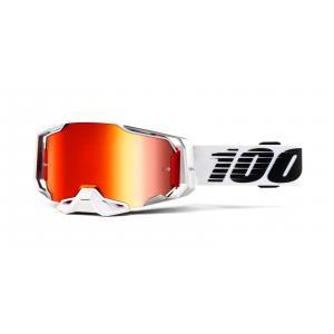 Motokrosové brýle 100% ARMEGA Lightsaber (červené chrom plexi)