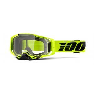 Motokrosové brýle 100% ARMEGA Nuclear Citrus žluté (čiré plexi) výprodej