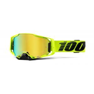 Motokrosové brýle 100% ARMEGA Nuclear Citrus žluté (zlaté plexi)